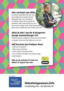 Flyer Mila achterkant